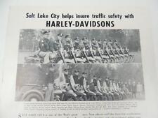 Vintage 1952 Harley-Davidson Police Servi-Car Motorcycle Bulletin Brochure L4973