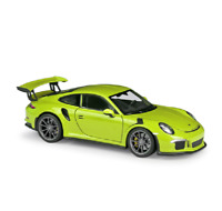 Welly 1:24 2016 Porsche 911 GT3 RS Diecast Model Sports Racing Car Green BOXED