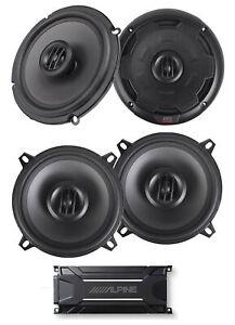"""ALPINE KTA-30FW 600 Watt 4-Channel Amplifier Amp+MTX Thunder 6.5""""+5.25"""" Speakers"""