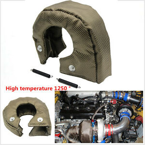 UNIVERSAL T3 Titanium Turbo / Turbocharger Heat Shield Blanket Cover Wrap