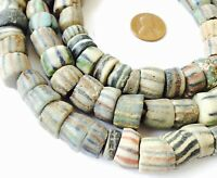 Fine Strand Antique Krobo Powder Glass African Trade Beads-Ghana Collectible