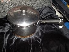 Vintage Revere Kitchenware Stainless Steel Cooking Pot/Lid Copper bottom