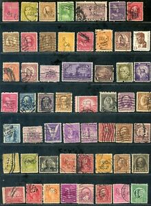 54 U.S. USED PERFIN STAMPS