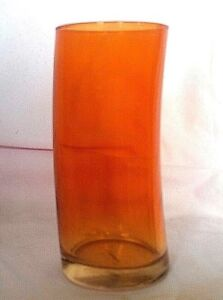 Leonardo Swing Highball Beverage Drinking Glass 12 oz Orange Tumbler Germany