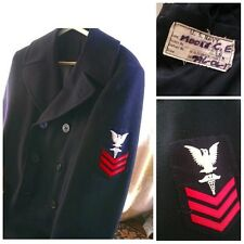 Official Military Issue USN US NAVY Pea Coat Mens 38 R Wool Coat USA