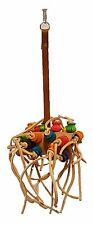 bird toy leather natural wood bird toy parrot