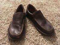 Mens Brown Born Slip On Shoes, Size US 10 (44 Euro)