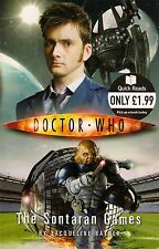 DOCTOR WHO<>THE SONTARAN GAMES by JACQUELINE RAYNER<>10th DOCTOR<>QUICK READS ~