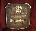 VTG Heineken Bieren Beer Faux Wood Plaque W Hanging Chain Man Cave Lightweight