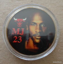 Michael Jordan 1 oz 24 Kt .gold plated Collectible Coin # 23 bulls
