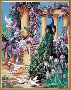 Royal Paris Tapestry/Needlepoint Canvas - Peacock in Paradise