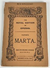 Vintage Royal Edition, Opera Score by FLOTOW,  in Italian & English