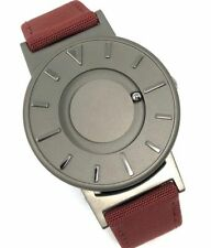 Eone - Bradley Titanium Crimson with Red Canvas/ Leather strap - BR-C-RED - Unis