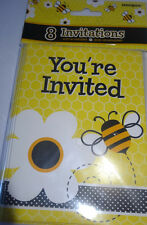 Bumble bee party invites baby shower girls birthday garden theme invitations