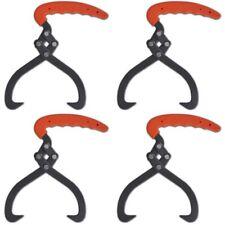 4 Pcs Log Timber Tongs With Sharp Hooks Pvc Handle Fire Wood Stack Lifting Tool