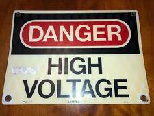 "Safety Signage Reads ""Danger High Voltage"" 14"" x 10"" Plastic"