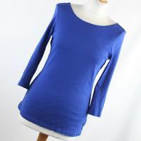 F&F Womens Size 12 Blue Plain Cotton Basic Tee