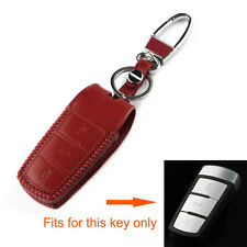 Leather 3BTN Smart Remote Key Fob Holder Cover Case Shell For Passat CC Magotan