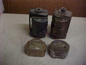 2 Vintage Dental PressES 6 Flask Molds Hanau  Dentist Tool Dentures LQQK