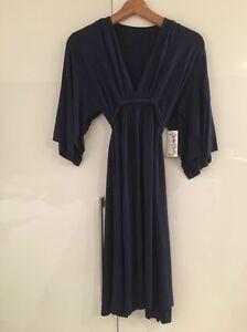 RACHEL PALLY Caftan Kaftan Dress Dark Blue XS S Small New NWT £250+