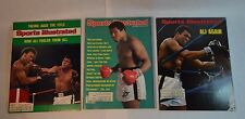 3 vintage Sports Illustrated Magazines with Muhammad Ali Covers 1974 & 1980