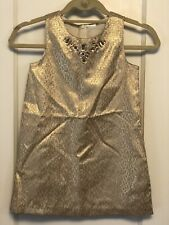 Gymboree Gold BLING SLEEVELESS LINED Dress Holiday Party SIZE 6 AGE (5-6)