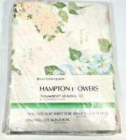VTG SEARS HAMPTON FLOWERS PERMA PREST PERCALE TWIN FLAT SHEET, MUSLIN SHEET