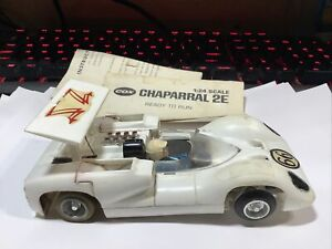 VINTAGE 1/24 COX SLOT CAR  CHAPARRAL 2E ISO-FULCRUM CHASSIS BARN FIND HTF RARE