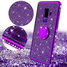 For Samsung Galaxy S20+/Note 10/S10/S9 Bling Glitter Ring Stand Back Case Cover