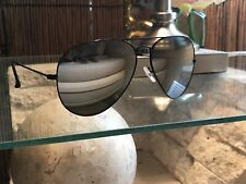 Ray-Ban Aviator Sunglasses RB3025 58mm 002/40 Black Frame Silver Mirrored Lenses