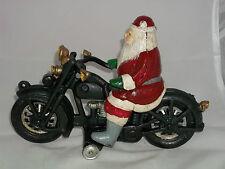 CAST SANTA CLAUS & HIS MOTORCYCLE JD,VL,WLA HARLEY- INDIAN