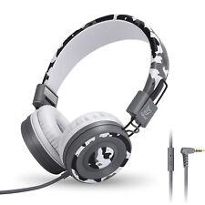 RockPapa On Ear Foldable Kids Childs Boys Girls Teens Headphones Earphones Grey