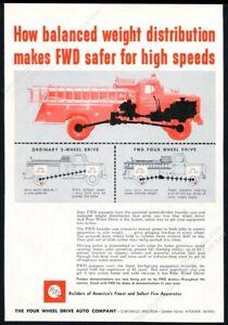 1957 Emmett Michigan fire engine truck pic FWD vintage print ad