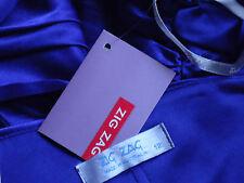 ZIGZAG StrapyBlueSatinBonedParty Size12$139