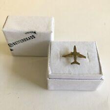 ButterBrass Airplane Plane Brass Ring Size 8.5 Handmade Jetsetter Hand Made Cute