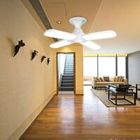 E27 Four Blade Super Bright LED Ceiling Pendant Light Folding Fan Blade Lamp