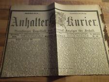 Anhalter Kurier #62 - 13.03.1888 Dreikaiserjahr Kaiser Friedrich III. Wilhelm II