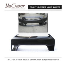 Carbon Grill Fit For 11-15 Nissan R35 GTR DBA OE Front Bumper Nose Cover GLOSSY