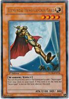YUGIOH • Elemental Hero CAPTAIN GOLD FOTB-EN014 ULTRA RARA • 1ST ED NMINT