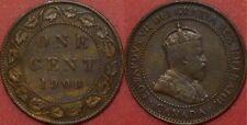 Fine 1909 Canada Large 1 Cent