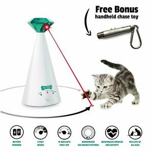 Cat Toy Automatic Laser Toy + Free Bonus 3-in-1 Chase Toy Ruff 'n Ruffus