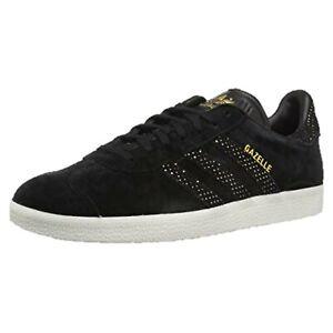 Adidas Gazelle Ortholite Black Suede Gold Foil Women's Sneaker Size 9.5 NWT