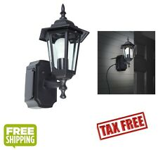 Outdoor Black Wall Light Fixture Patio Porch Exterior Sconce Lantern Outlet NEW