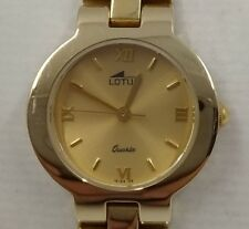 Reloj LOTUS mujer chapado oro 5 micras esfera dorada