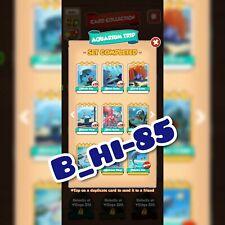 Coin Master New set Cards Aquarium Trip set White Cards (5 cards)