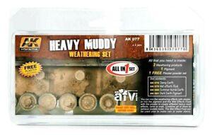 AK Interactive Heavy Muddy Weathering Set Pour Modèles