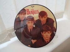 "THE BEATLES    7"" Picture Disc Playable Record OR Art Display (stand included)"