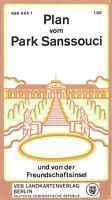 Potsdam, Plan vom Park Sanssouci, 1973