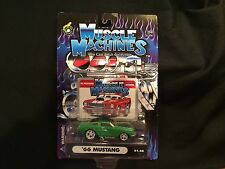 2001 MUSCLE MACHINES '66 MUSTANG 01-40 GREEN 1/64 SCALE MIP