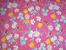 "Tropical Hawaiian Floral Apparel Fabric Bright Pink Blue 55"" x 4.88 Yards"